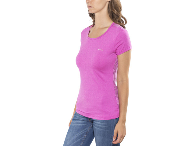 Columbia Peak to Point Novelty SS Shirt Women groovy pink